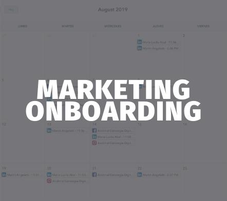 Marketing Onboarding